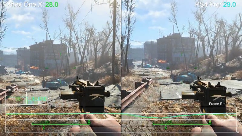Fallout 4 Looks Better On Xbox One X But Runs Slightly Smoother On