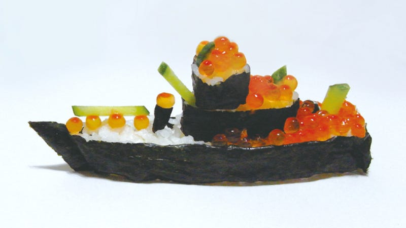 Illustration for article titled Imperial Warships Made from Sushi Will Make You Fat