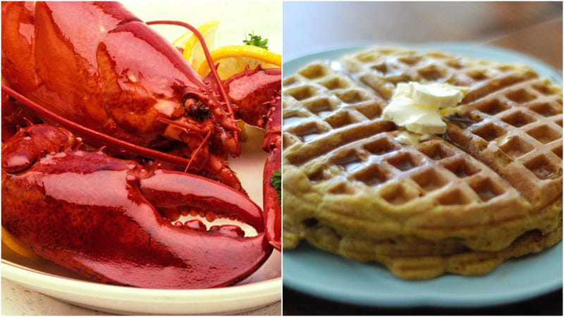 Illustration for article titled Cheddar Bay Biscuits now come in waffle form, thus lobster-and-waffles exists