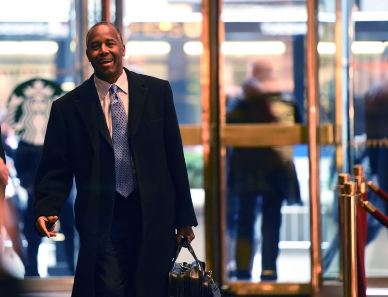 Ben Carson arrives for meetings with President-elect Donald Trump on Dec. 12, 2016, in New York City.TIMOTHY A. CLARY/AFP/Getty Images