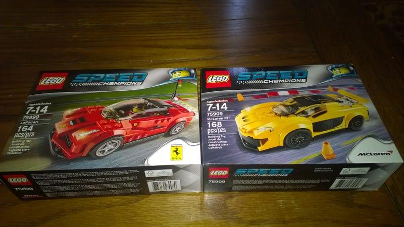 Illustration for article titled LEGO Speed Champions McLaren P1 and Ferrari LaFerrari