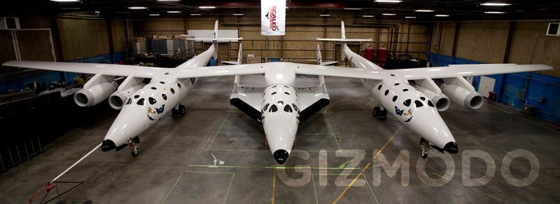 Illustration for article titled First Images of SpaceShipTwo, First Commercial Passenger Spacecraft in History