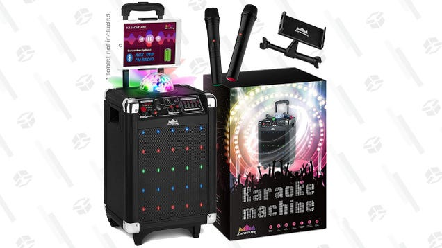 Sing To Your Heart s Content With This Karaoke Machine Gold Box
