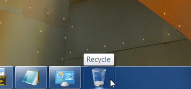 Illustration for article titled Put a Recycle Bin Shortcut on the Windows 7 Taskbar