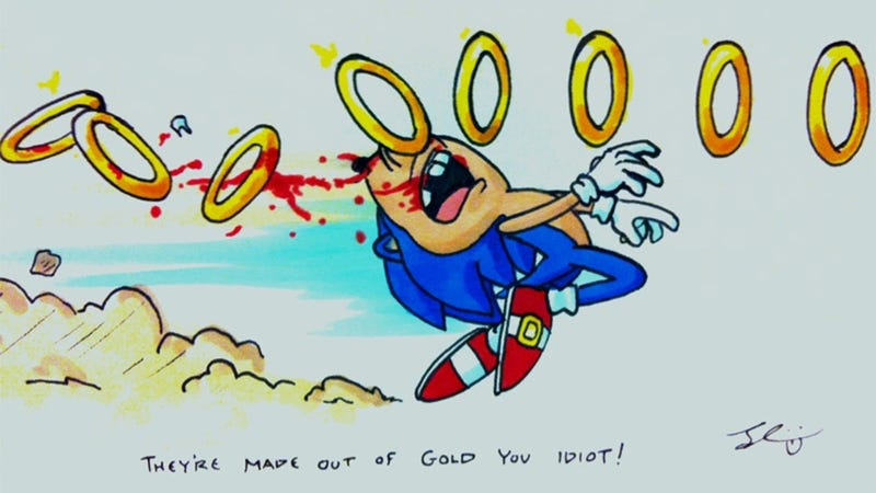 Illustration for article titled Dumb Running Sonic Meets an Untimely End