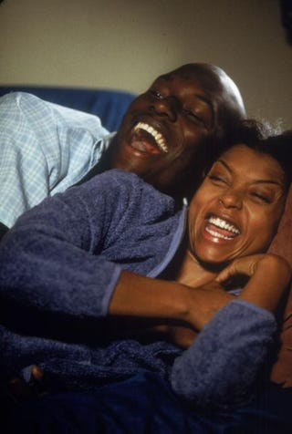 Tyrese Gibson and Taraji P. Henson in a scene from the film Baby BoyGetty Images