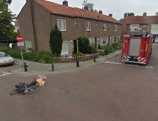 Illustration for article titled Google Street View Captures Fire Truck Hit and Run With an Old Lady On a Bike