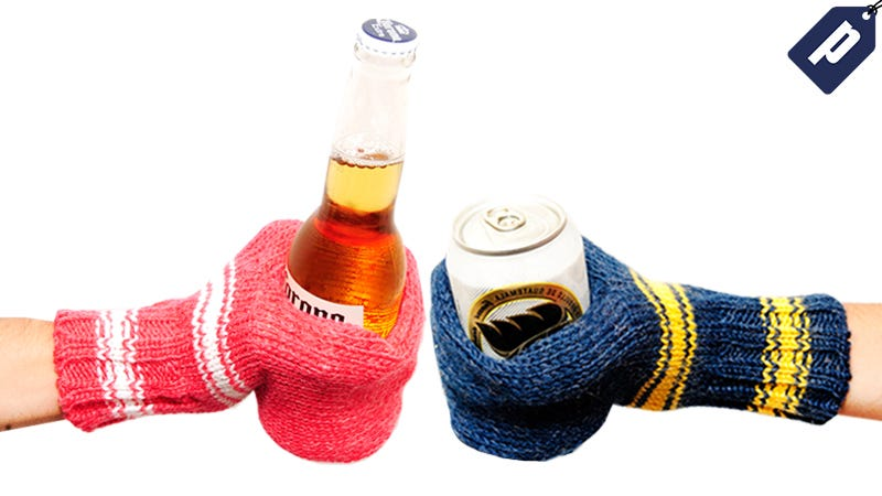 Illustration for article titled Be Prepared for Your Next Tailgate with a Ridiculous Beer Mitt (50% Off)