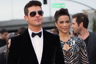 Robin Thicke and Paula Patton (Christopher Polk/Getty Images)