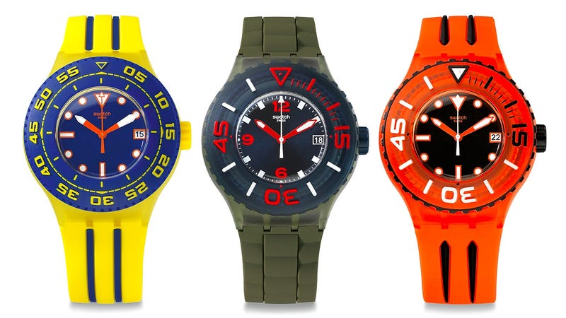 Illustration for article titled Swatch's $90 Dive Watches Won't Take You To the Depths Of Poverty