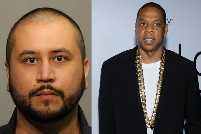 George Zimmerman (Seminole County Sheriff`s Office via Getty Images); Jay Z (Larry Busacca/Getty Images)