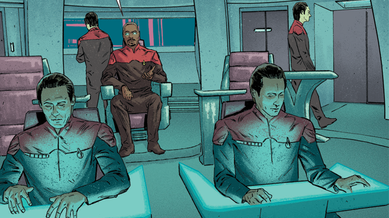 Illustration for article titled Geordi La Forge Has a Ship Full of Datas in This First Look atStar Trek: Waypoint