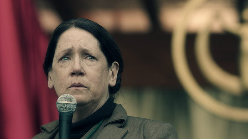 handmaid s tale actress thinks aunt lydia was a scorned