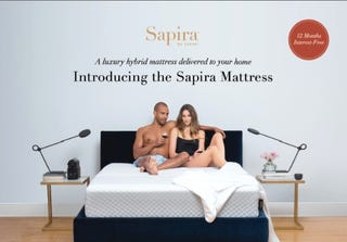 Ad from Leesa Sleep featuring interracial coupleLeesa Sleep