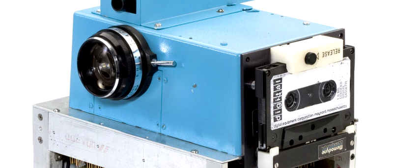 Illustration for article titled Una tostadora de 3,6kg que grababa en casettes: la primera cámara digital cumple 40 años