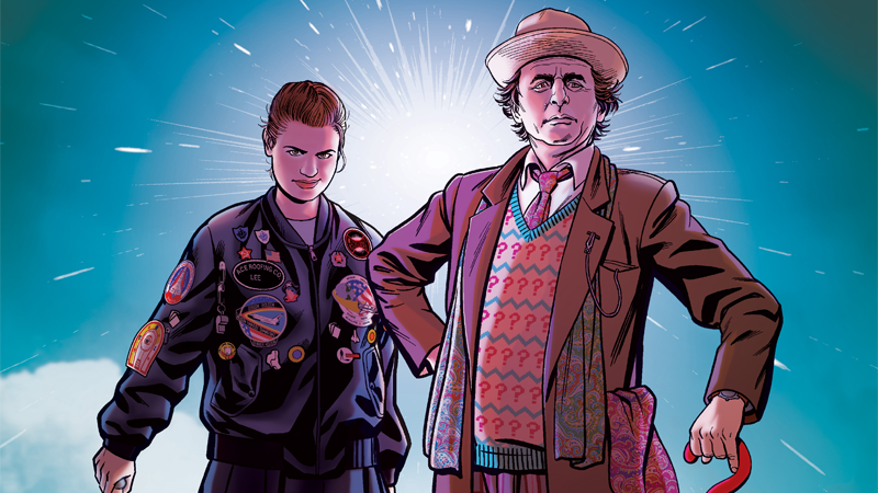 Image: Titan Comics. Doctor Who: The Seventh Doctor #1 cover art by Chris Jones