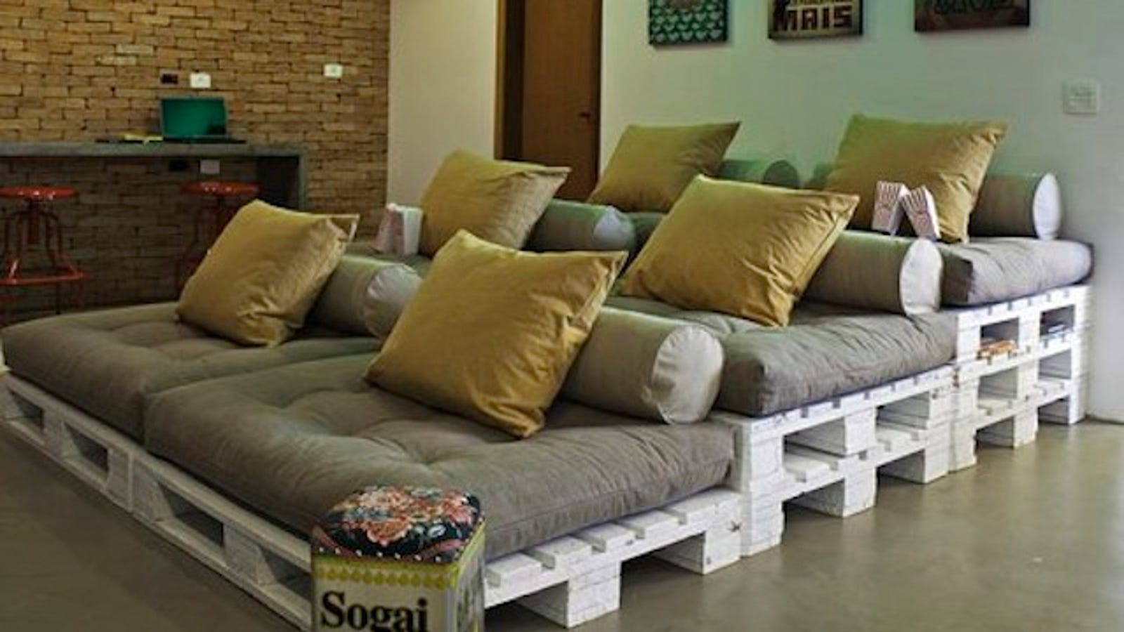 inexpensive home theater seating. Build Stadium-Style Home Theater Seating On The Cheap With Shipping Pallets Inexpensive
