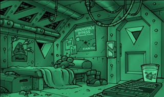 Illustration for article titled The Secret Interior of a Vogon Captain's Quarters
