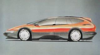 Illustration for article titled 1990 Oldsmobile Expression concept