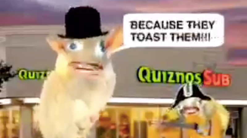 Illustration for article titled Today we're reminded that the singing Quiznos rats were real and not a collective fever dream