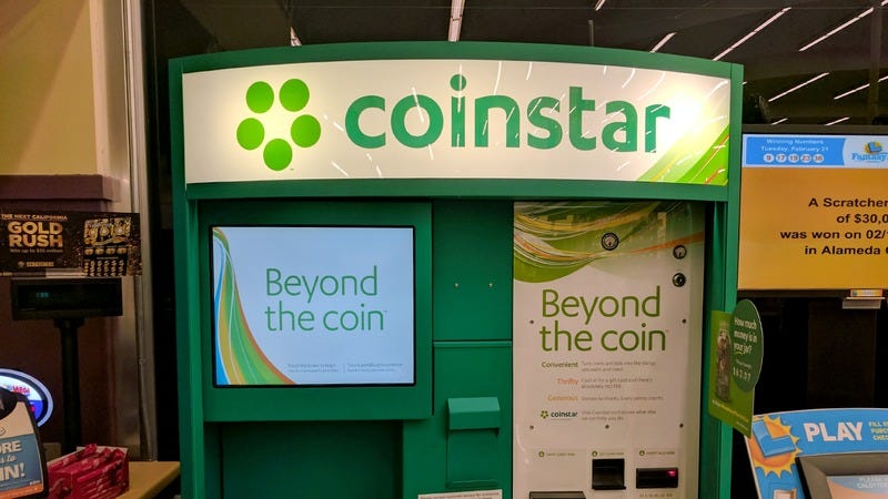 A Coinstar machine