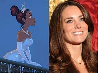 Princess Tiana and Kate Middleton (Disney/AFP)