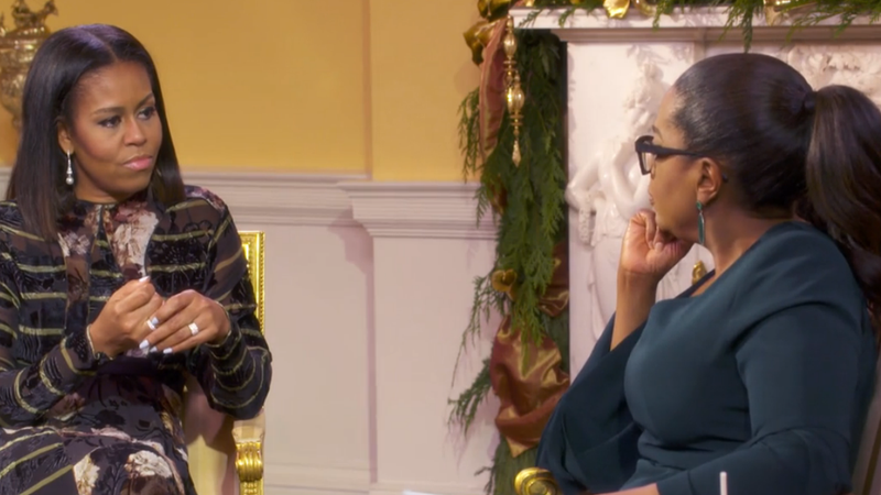 Michelle Obama interviewed by Oprah Winfrey for a CBS broadcast that aired Dec. 19, 2016CBS screenshot