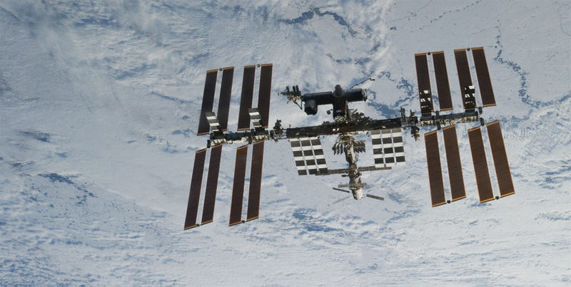 The International Space Station, in all its glory. Sometimes I forget it's up there. (Image: NASA)