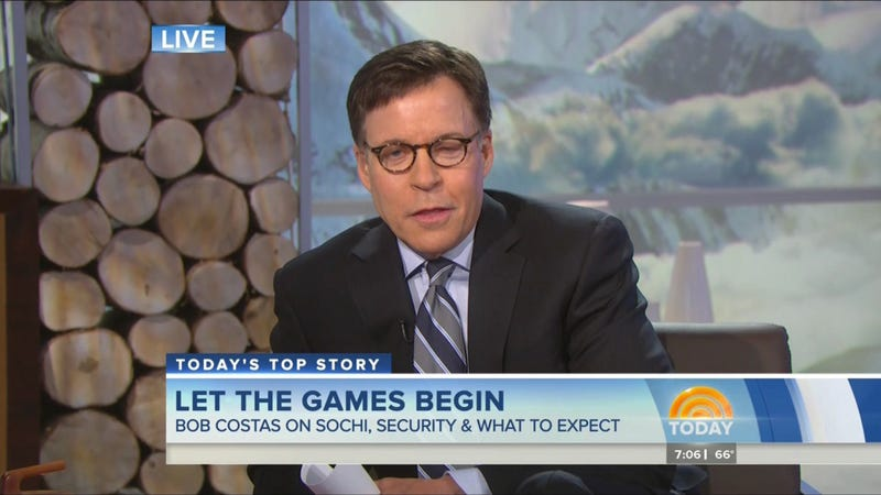 Illustration for article titled What's The Deal With Bob Costas's Eye?