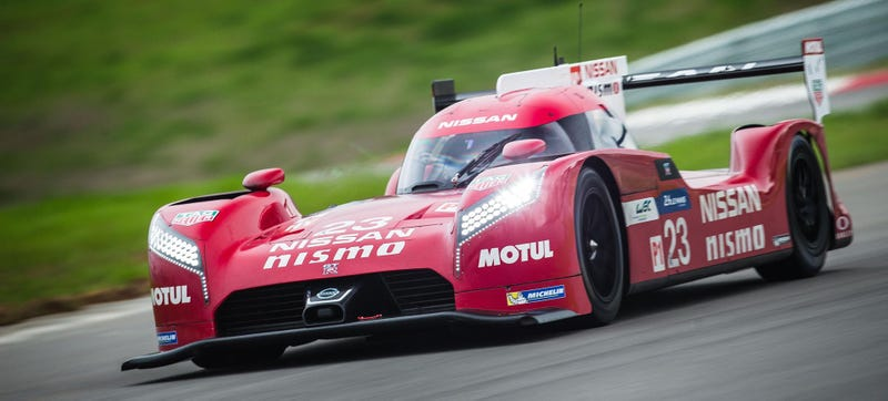 Illustration for article titled Why Is Nissan's Le Mans Car Front-Wheel Drive?