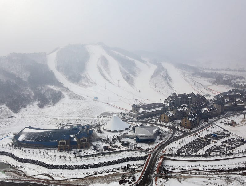 Illustration for article titled Snowy Mountain In Pyeongchang Figures It Can Withstand 1 Or 2 More Big Cheers Before Triggering Avalanche