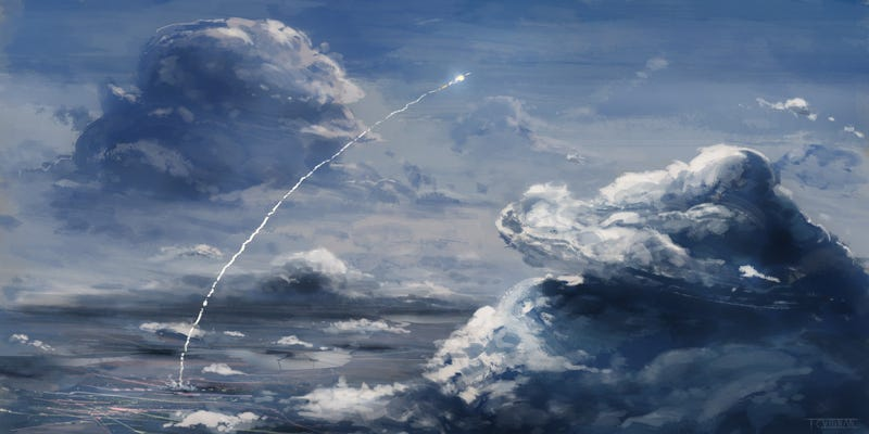 Illustration for article titled It's Either An ICBM Or Some Damn Impressive Fireworks