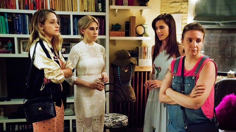 Jemima Kirke, Zosia Mamet, Allison Williams, and Lena Dunham (Photo: HBO)