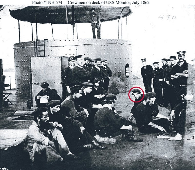 Illustration for article titled Sailors from USS Monitor to be buried today in Arlington