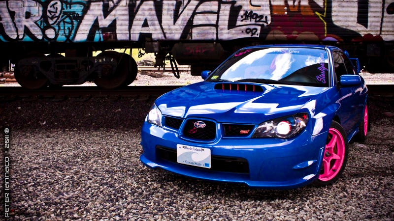 Illustration for article titled Your Ridiculously Cool Subaru WRX STI Wallpaper Is Here