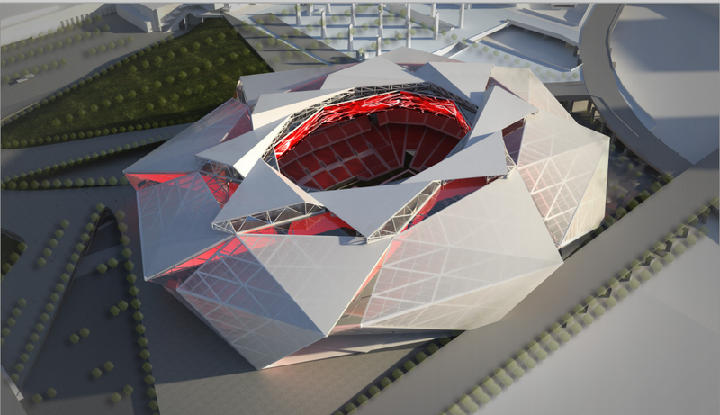 Illustration for article titled The Prospective Designs For The Atlanta Falcons' New Stadium Are Crazy