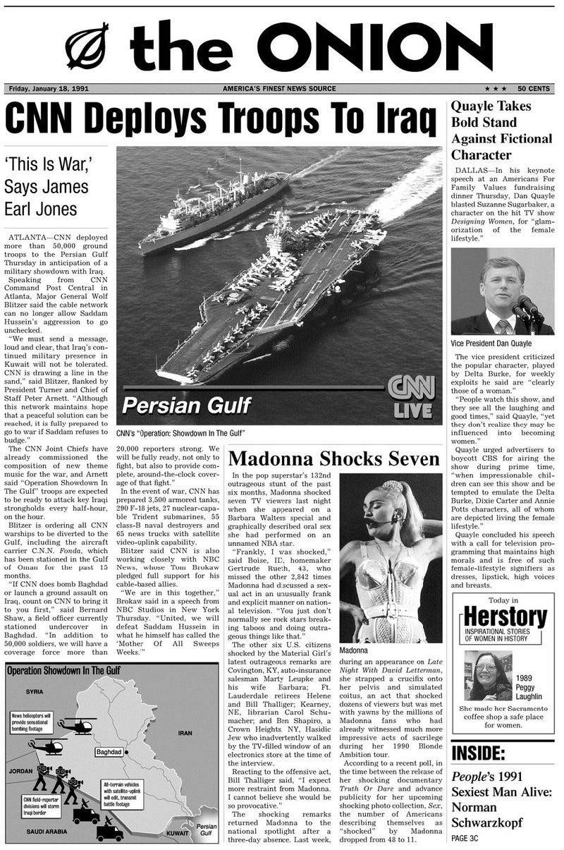 Illustration for article titled January 18, 1991