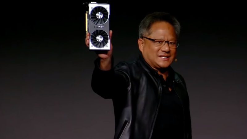 Jensen Huang at Nvidia's 2019 CES press conference.