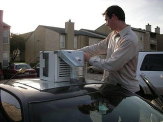 Illustration for article titled Do You Have In-Car Air Conditioning? No, Ours Is On-Car!