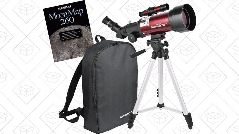 Orion GoScope II 70mm Refractor Travel Telescope Kit, $80