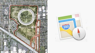 Illustration for article titled The New Maps Icon Shows Off Apple's Spaceship Campus