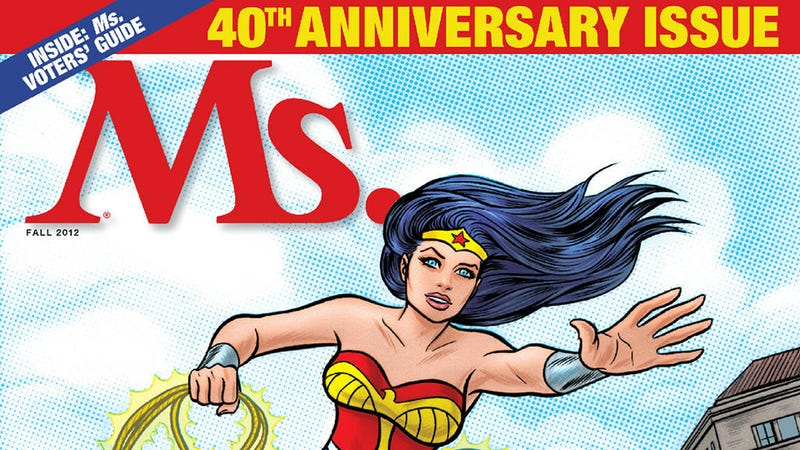 Illustration for article titled Wonder Woman Storms onto the 40th Anniversary Cover of Ms. Magazine