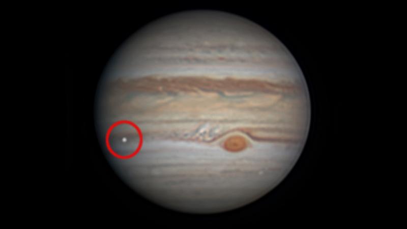 Bright spot on Jupiter, seen August 7, 2019.