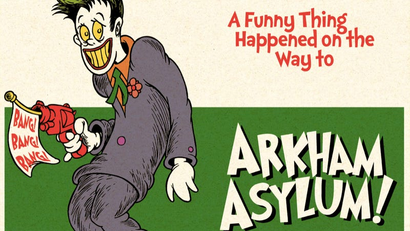 Illustration for article titled Dr. Seuss would and could take over Arkham Asylum