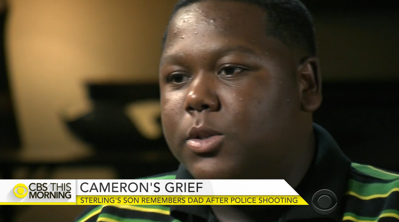 Cameron Sterling, 15-year-old son of Alton Sterling, the man whose death at the hands of Baton Rouge, La., police has prompted nationwide protestsCBS News