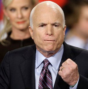 """Illustration for article titled John McCain Plans To Win The """"Real"""" America After You Godless Commies Are Locked Up"""
