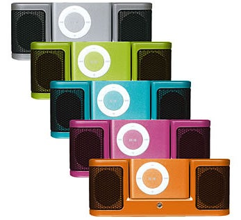 Illustration for article titled Corega iPod Dock, a Micro Boombox for shuffle
