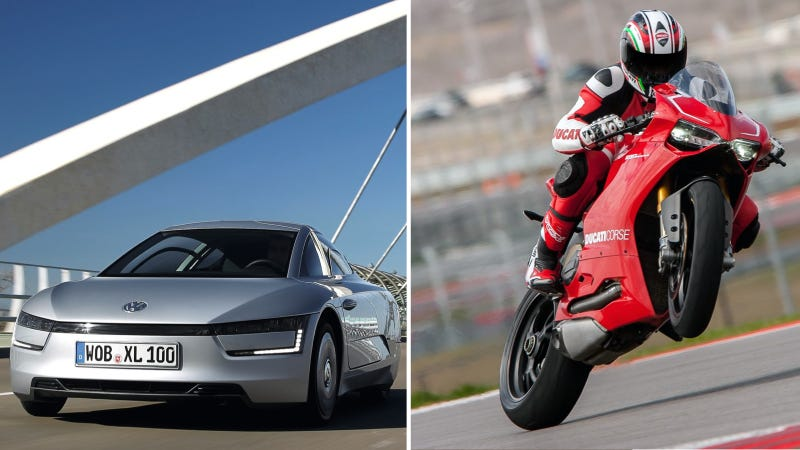 Illustration for article titled Volkswagen Is Reportedly Making A Sick XL1 With A Ducati Engine
