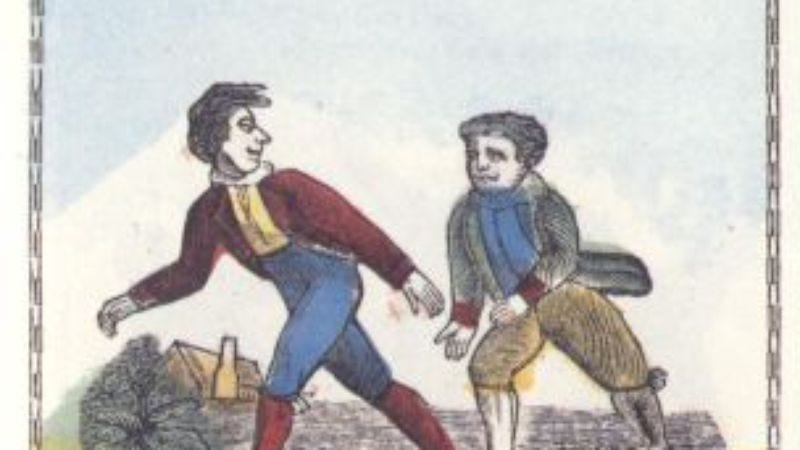 Illustration for article titled Walk, don't run, to Wikipedia's history of competitive walking