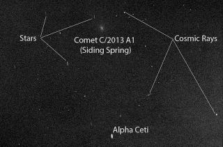 Illustration for article titled Here's What Comet Siding Spring Looked Like From Mars